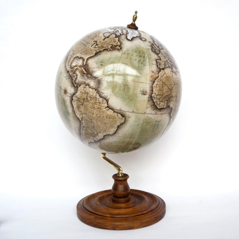 Handmade world globe terrestrial personalised globus map handmade world globe terrestrial personalised globus map table desk globe by gumiabroncs Images