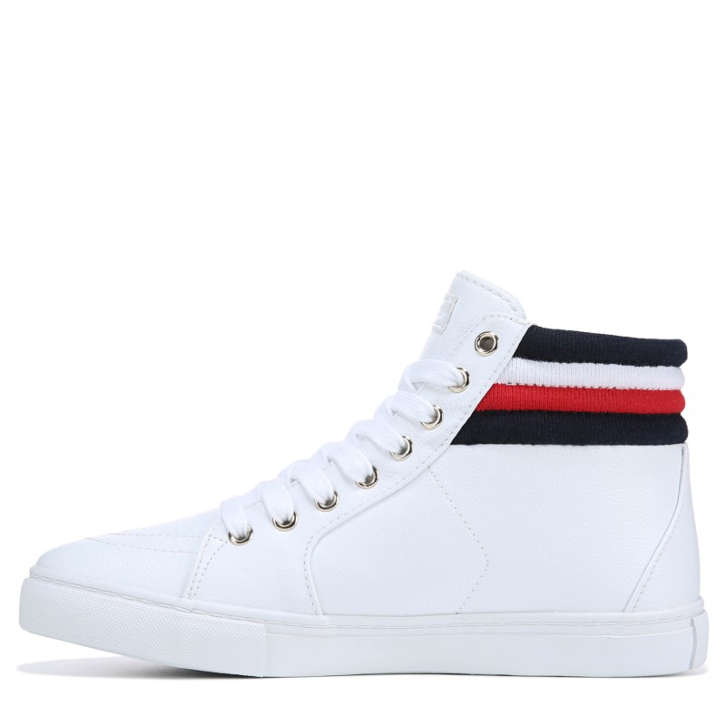 83077b6875529 Tommy Hilfiger Women s Lowgen High Top Sneakers (White)