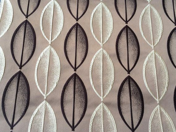 Brown Beige Artistic Leaves Fabric By The Yard By Fabricmart