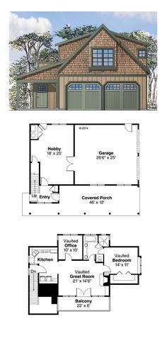 European Style 2 Car Garage Apartment Plan Number 41153 With 1 Bed 1 Bath Carriage House Plans Craftsman House Plans Garage Apartment Plan