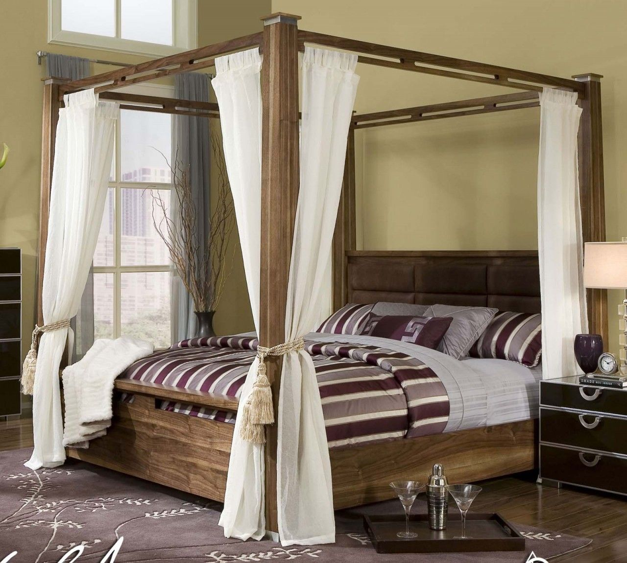 I want!!! California king canopy bed! Someday... huge old