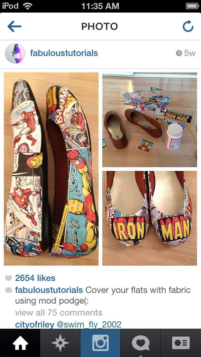 Iron man make em yourself diy pinterest ems diy comic book shoes using modge podge i need to do this to my sons shoes he is obsessed with iron man right now solutioingenieria Gallery