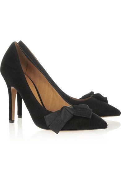 cf389f41c43 Isabel Marant poppy bow detailed suede pumps