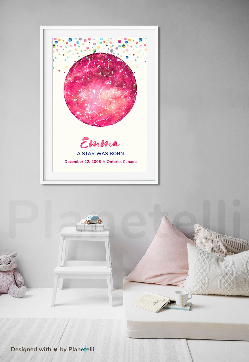 This Personalized Starry Sky Chart Is The Perfect Birthday Gift For A Person You Love