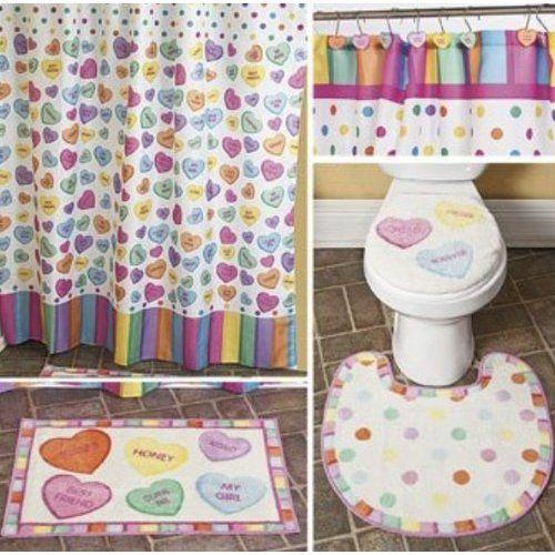 Amazon Com Valentine S Day Candy Hearts 16 Pc Complete Bath Set
