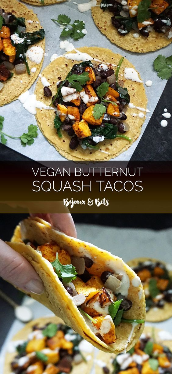 Vegan butternut squash tacos from @bijouxandbits                                                                                                                                                                                 More
