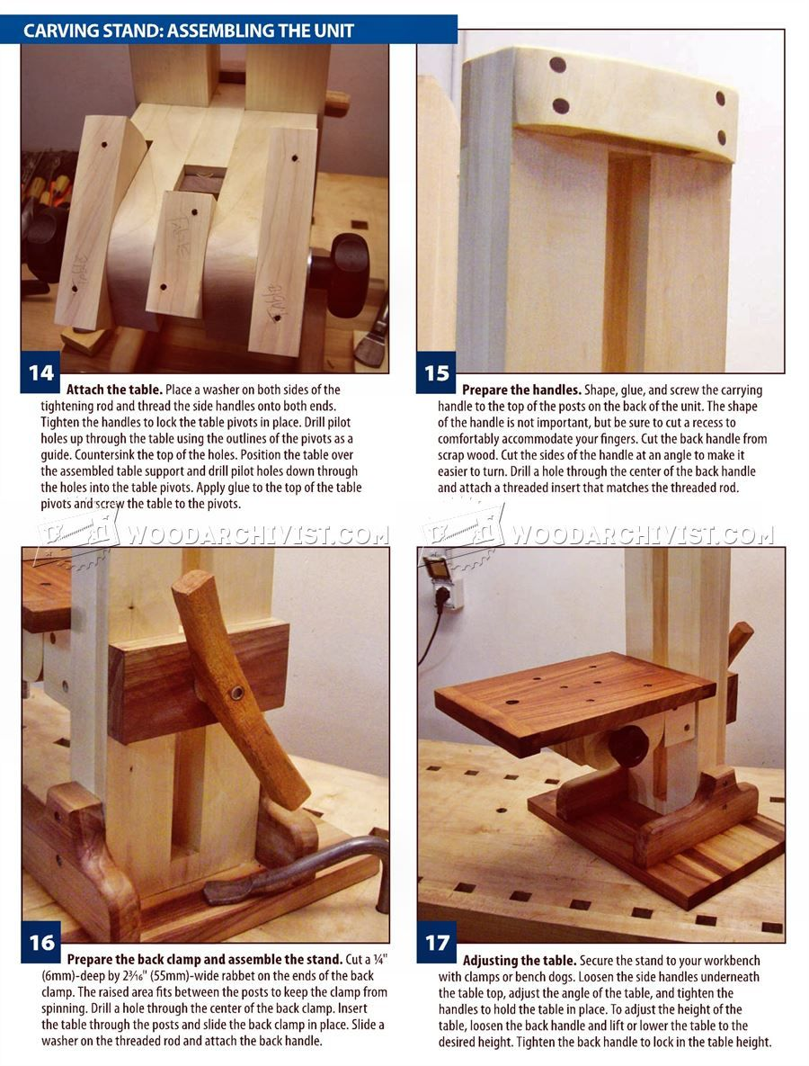 607 Build Your Own Carving Stand Wood Carving Patterns