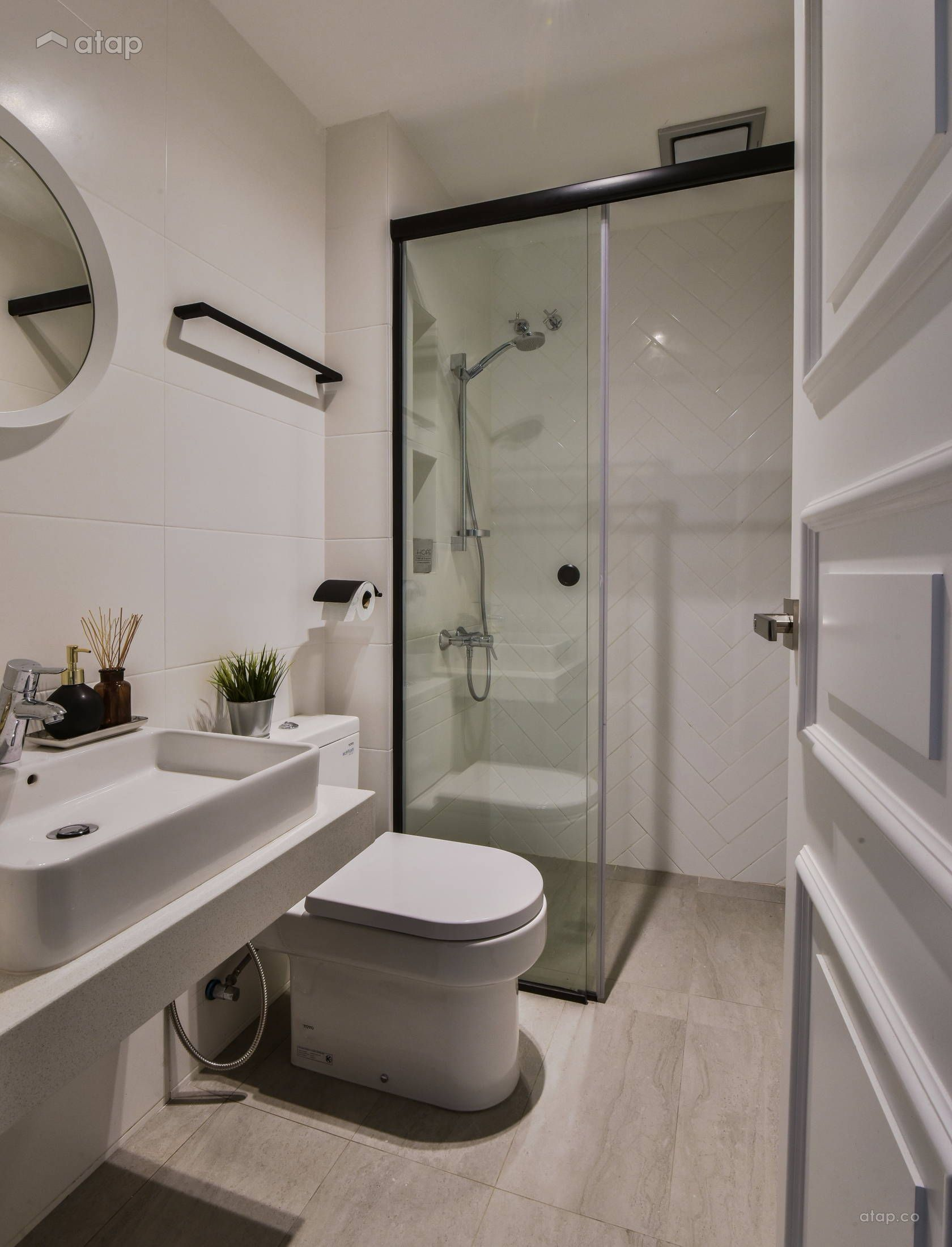 Minimalistic Scandinavian Bathroom Terrace Design Ideas Photos Malaysia Atap Co Bathroomdesignm Bathroom Remodel Cost Small Bathroom Design Small Bathroom