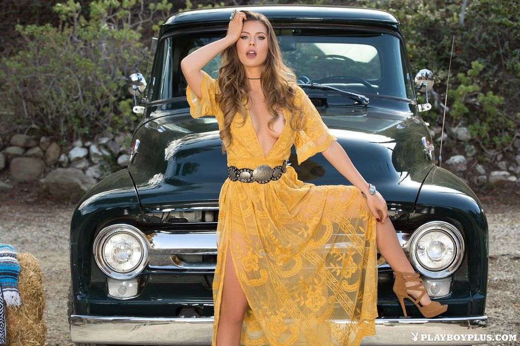 Gia Ramey-Gay And Ford Truck  Ford Trucks  Wrap Dress -7460