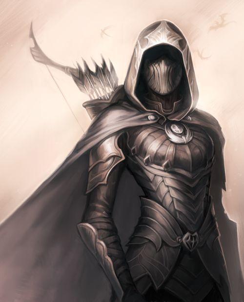 Fantasy Hooded Female Archer Possibly An Assassin Nightingale Skyrim Fantasy Art Fantasy