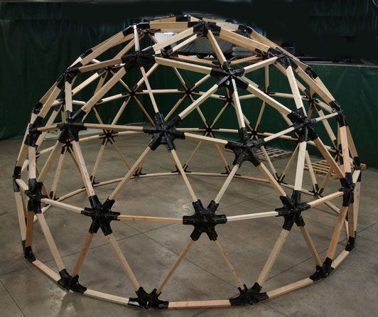 2x6 Heavy Duty Wood Geodesic Hub Kit