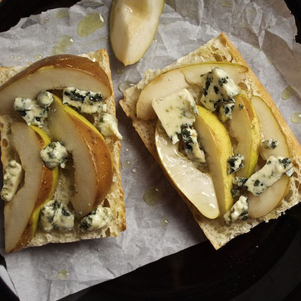 Pear and Blue Cheese Tartine with Black Truffle Oil - The ...