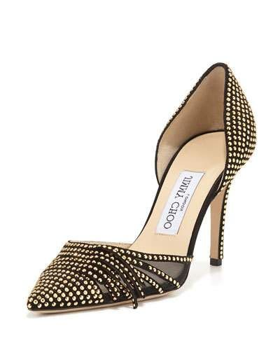 4afeabeb8aa X2X4S Jimmy Choo Kyra Studded 85mm d Orsay Pump