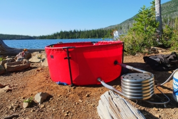 Nomad Collapsible Hot Tub Makes It Easy To Soak On A Warm Bath In The Outdoors #alternativeenergy
