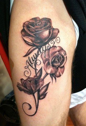 89c437f7685ef blackandbluetattoo kristina Blue Tattoo, Get A Tattoo, Inked Magazine, Rose  Tattoos, Tattoo