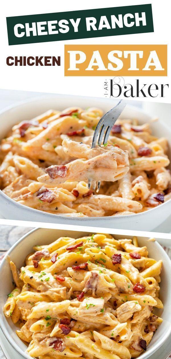 Cheesy Ranch Chicken Pasta | i am baker