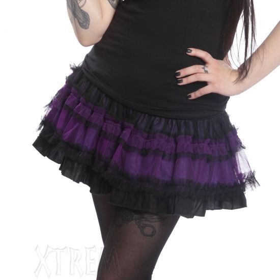 fc9614fe6f132 Dana Gothic Skirt with Purple Tulle by Poizen Industries   Gothic ...
