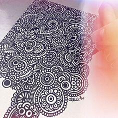 Zentangle art + paciencia = zentangle hermoso