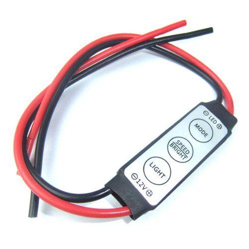 Dimmer Switch 12v Control Led Strip Adjust Brightness Controller For Smd 5050 2835 3528 Single Color Led Strip Light Dc 24v Dimmer Switch Led Strip Lighting Strip Lighting