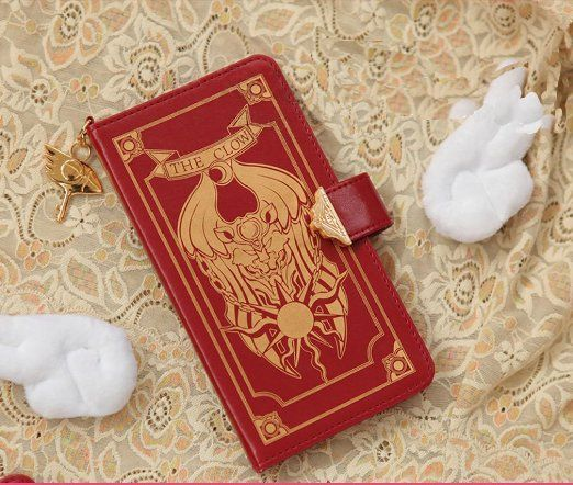 MONMOB Cardcaptor Sakura Edition PU Leather Cell Phone Wallet Case Magnetic Button Collection for iphone (iphone 5/5s)