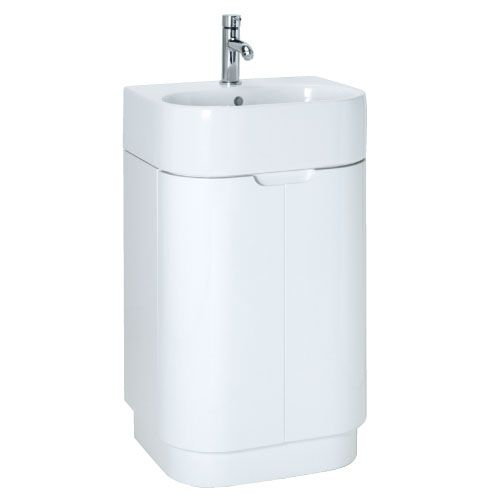 Euro Trio White 600 Floorstanding Vanity Unit Exc Basin