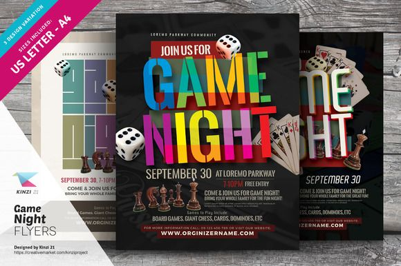 Game Night Flyer Templates Game Night Flyer Template And Template