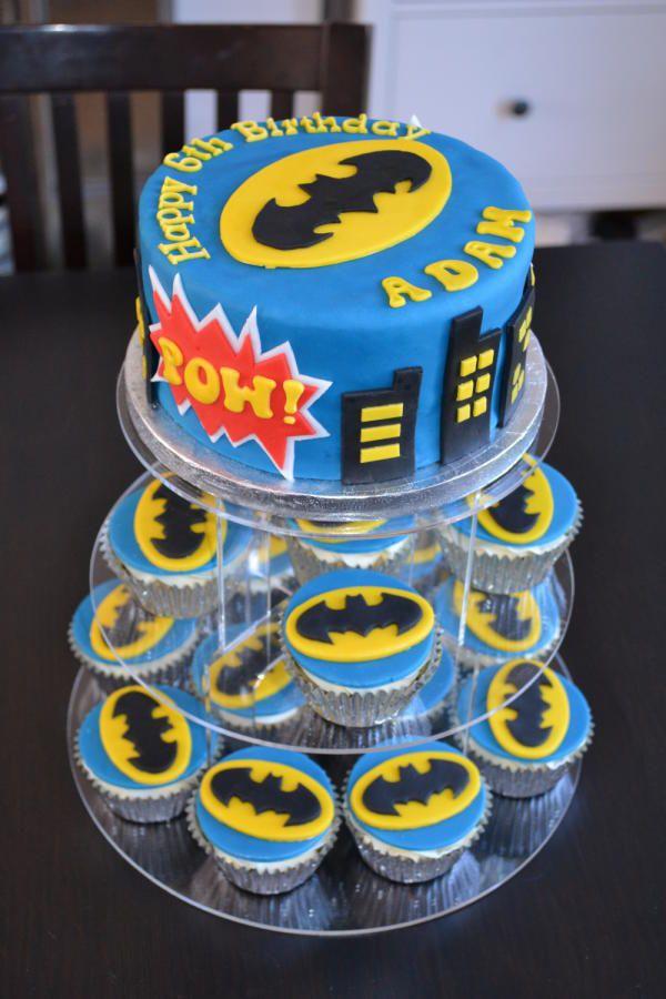 Batman Cake And Batman Cupcakes Cake By Kliscakes Batman Cake