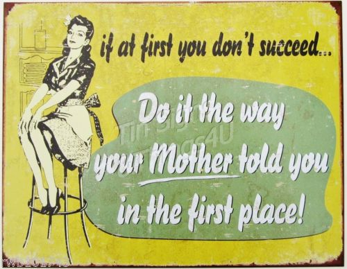 FUNNY RETRO METAL WALL SIGN PLAQUE QUIRKY KITCHEN PICTURE HOME DECOR GIFT IDEA