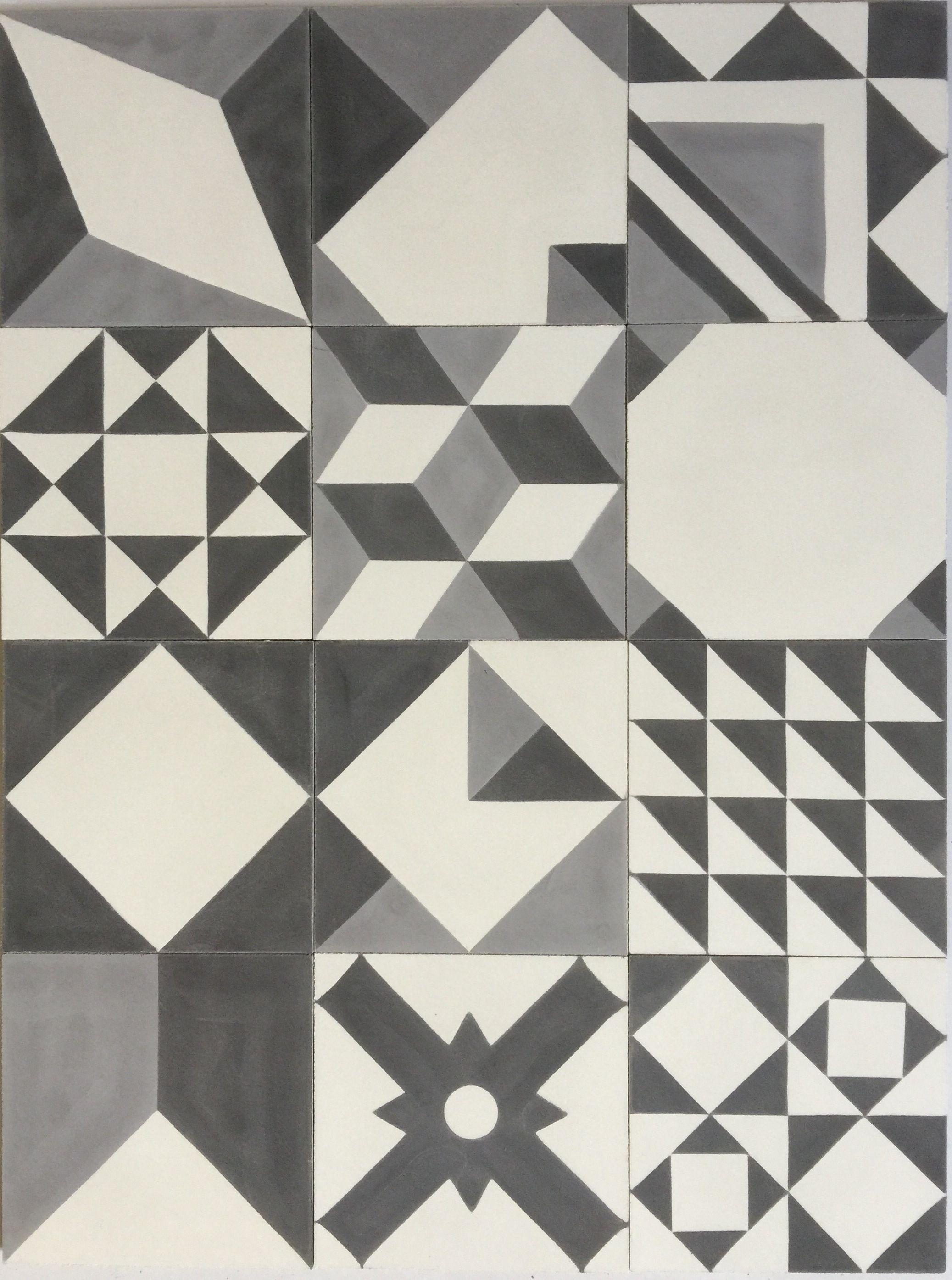 Baldosa hidr ulica patchwork blanco y negro mosaicos - Azulejos para mosaicos ...