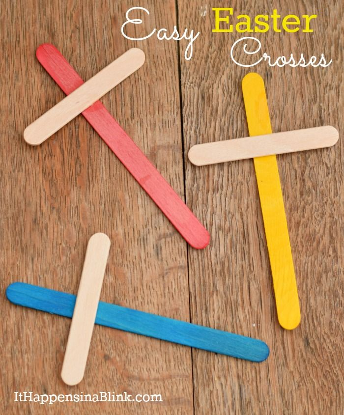 vbs craft ideas for kids easy easter crosses ithappensinablink uses only 3 7314