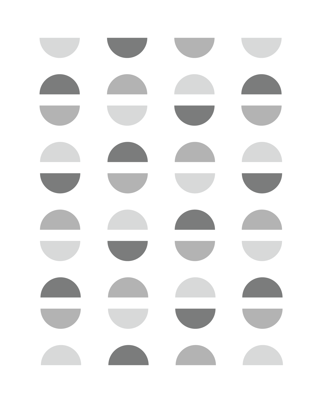 Half Circle Pattern Print Pink Blue Green Black Etsy Circle Pattern Print Patterns Pink Print