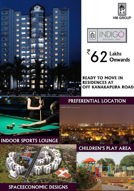 Luxury Apartments In Jp Nagar Bangalore Hm Indigo Ready To Move In Residences At Off Kanakapura Road Luxury Apartments Bangalore City Residences