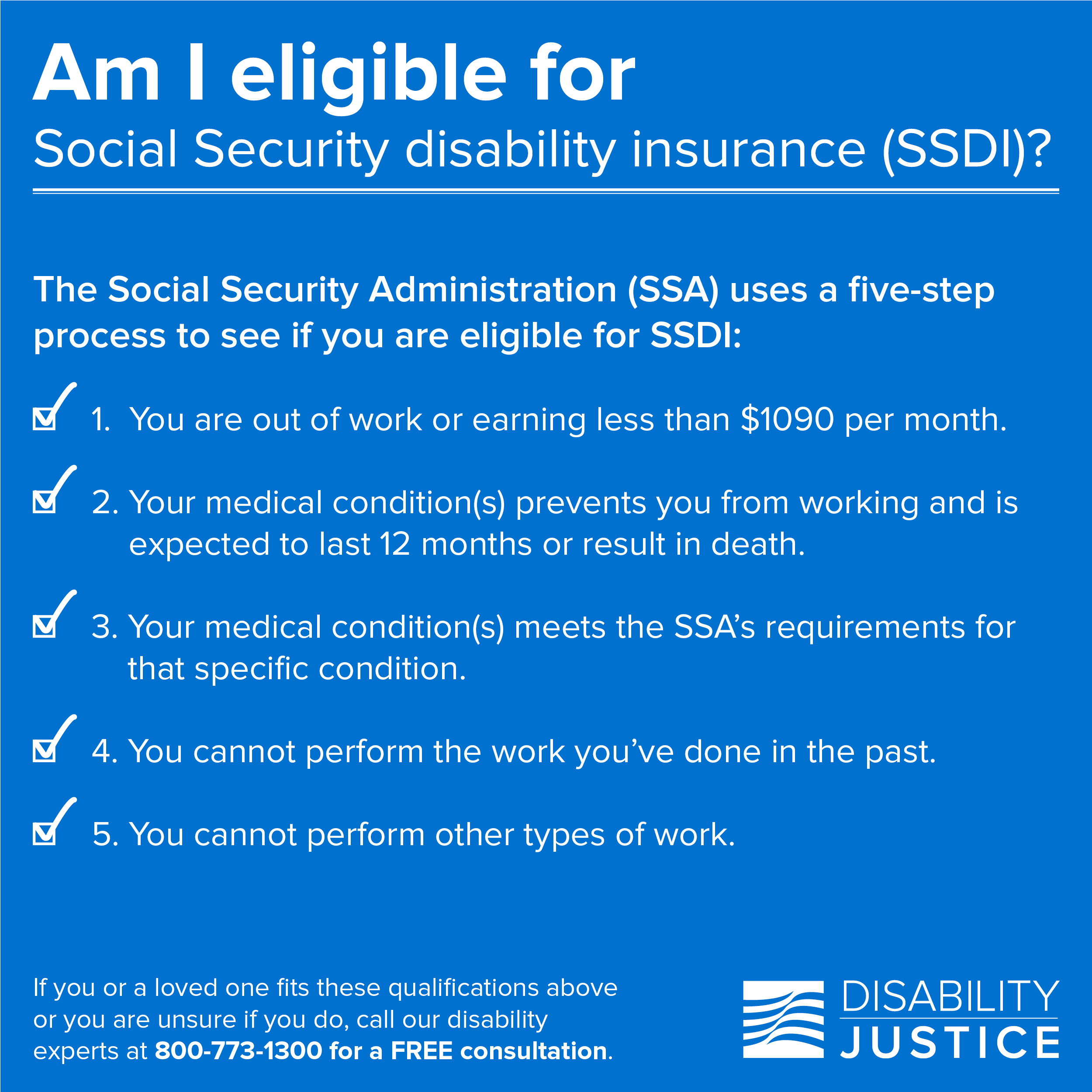 Are you eligible for Social Security disability insurance