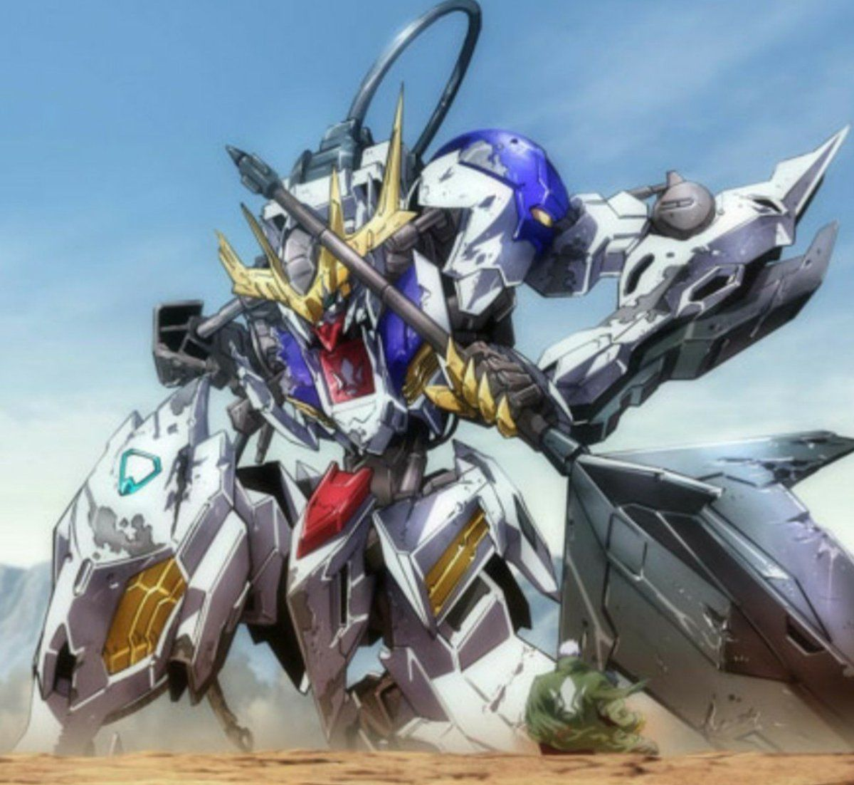 Gundam Barbados Lupus Rex Gundam Iron Blooded Orphans Gundam Art Unicorn Gundam