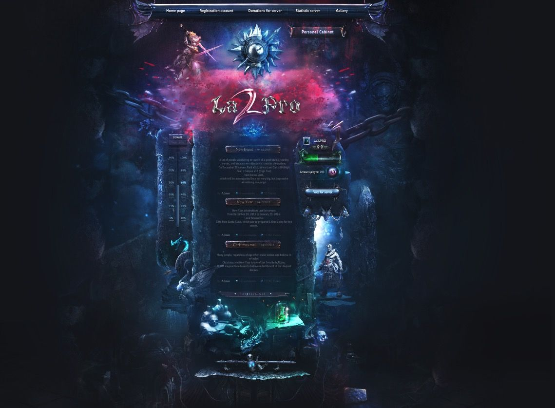 Design For Mmo By Digitalnoxdesign Mmo Game Design Website Inspiration