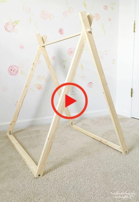 DIY A Frame Tent - Farmhouse Indoor Style Kids Camping Room | We Lived