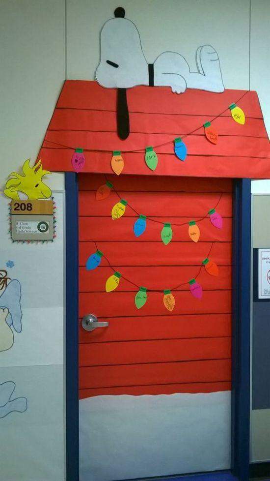 Ideas para decorar puertas escolares en Navidad | Actividades ...