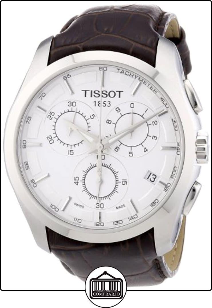cf332f5f46d8 Tissot T0356171603100 - Reloj analógico de caballero de cuarzo con correa  de piel marrón de ✿ Relojes para hombre - (Gama media alta) ✿