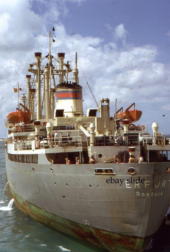 Erfurt Freight Ship 1975 35mm Slides Lot 2 Kodachrome