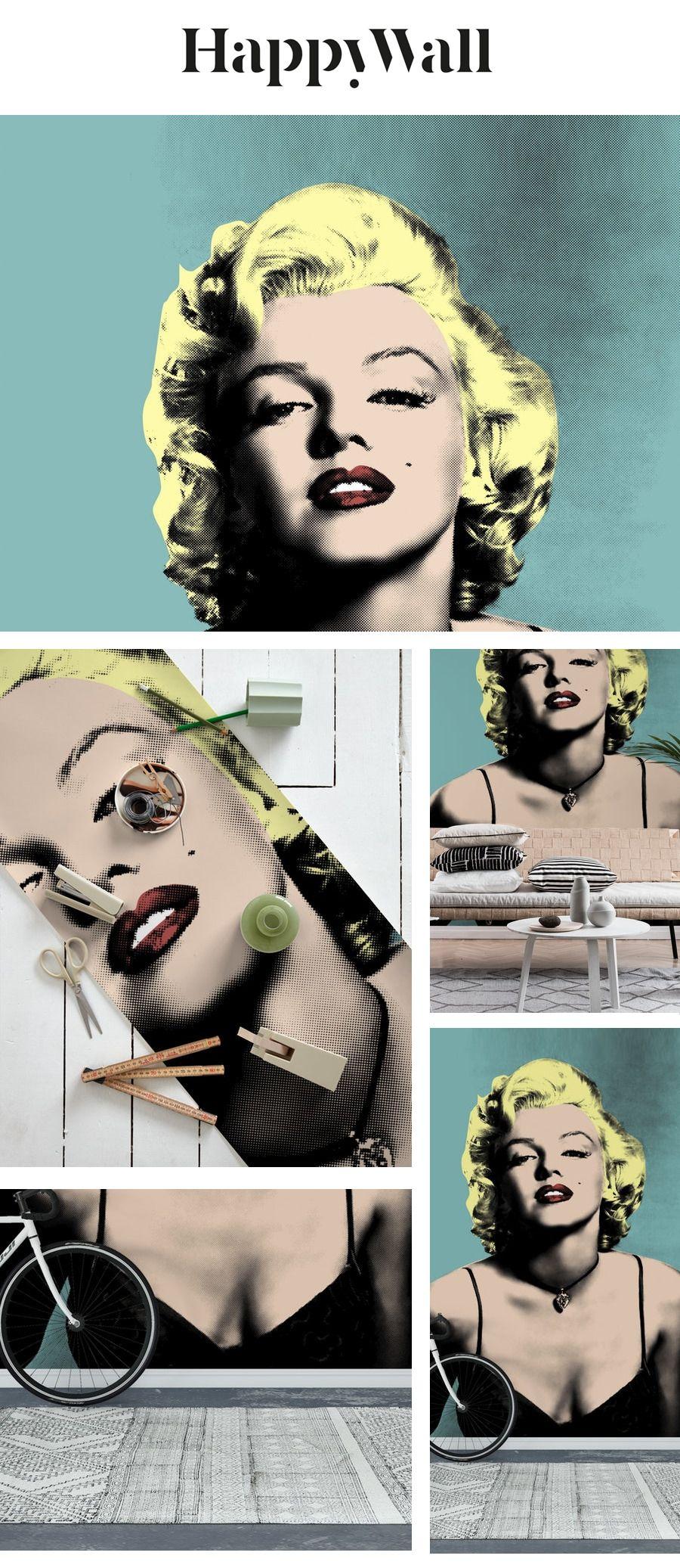 Marilyn Monroe Warhol Wall mural Warhol, Wall murals