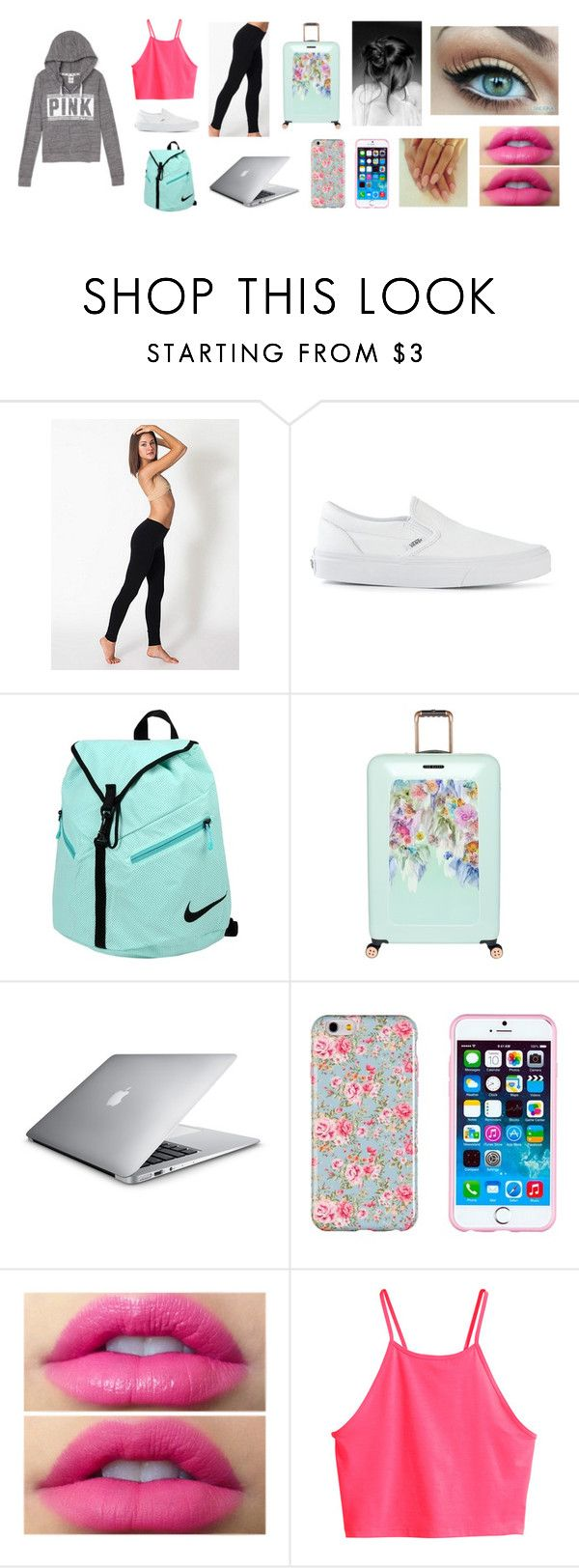 """""""Desy : Road Trip to Cali"""" by livelovebreathedesy ❤ liked on Polyvore featuring American Apparel, Vans, NIKE, Ted Baker and H&M"""