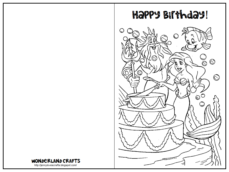 Wonderland Crafts Birthday Cards printables – Printable Birthday Cards Black and White