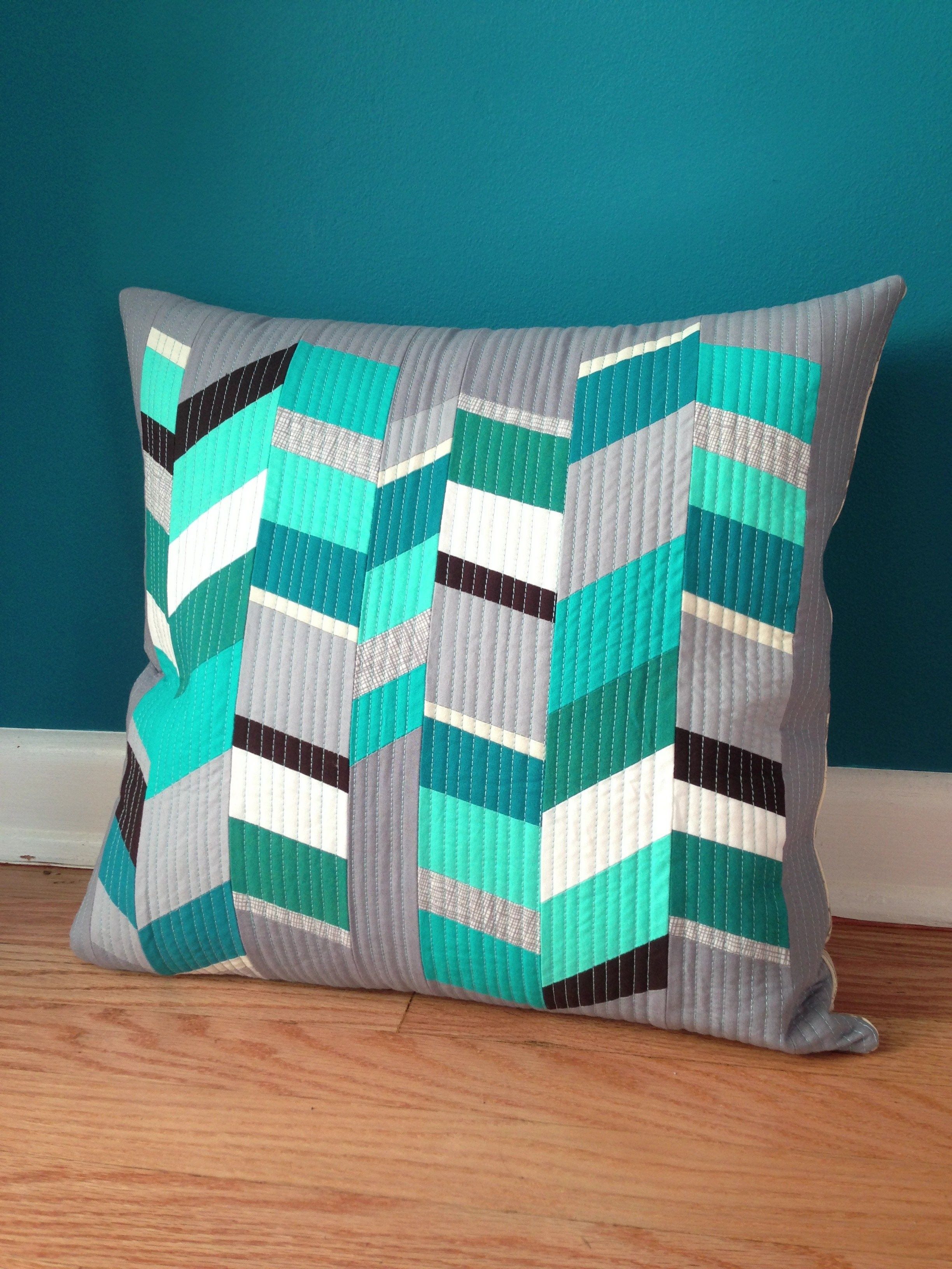 Stripped herringbone pillows design seeds and juki