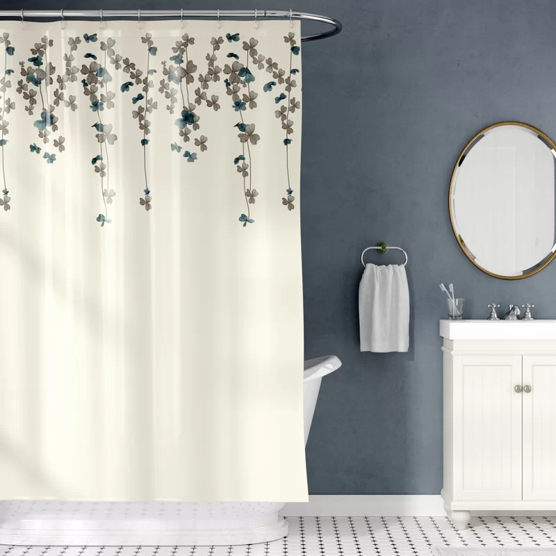 Riehl Embroidered Single Shower Curtain With Images Shower