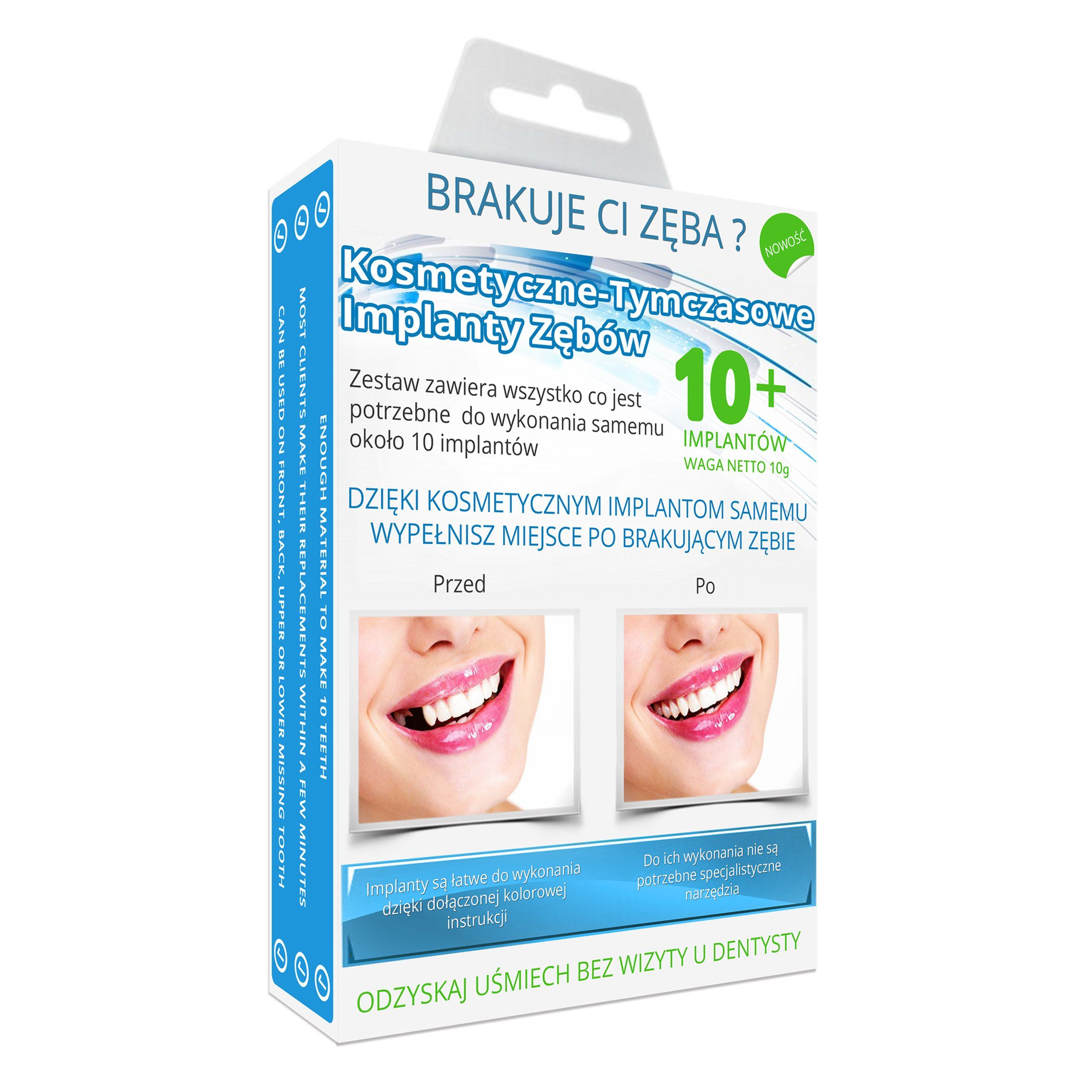 Sztuczne Zeby Tymczasowe Kosmetyczne Implanty Personal Care Toothpaste Beauty
