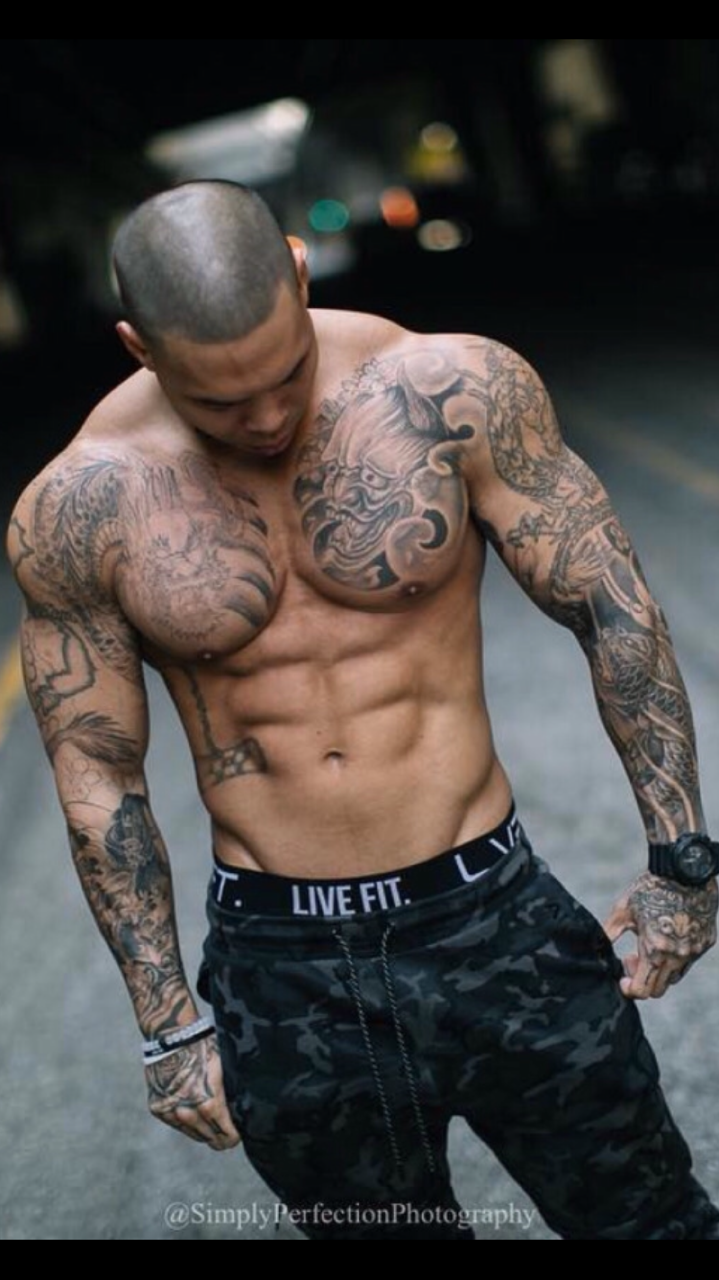 Working out eating right keeping healthy traveling and for Working man tattoo