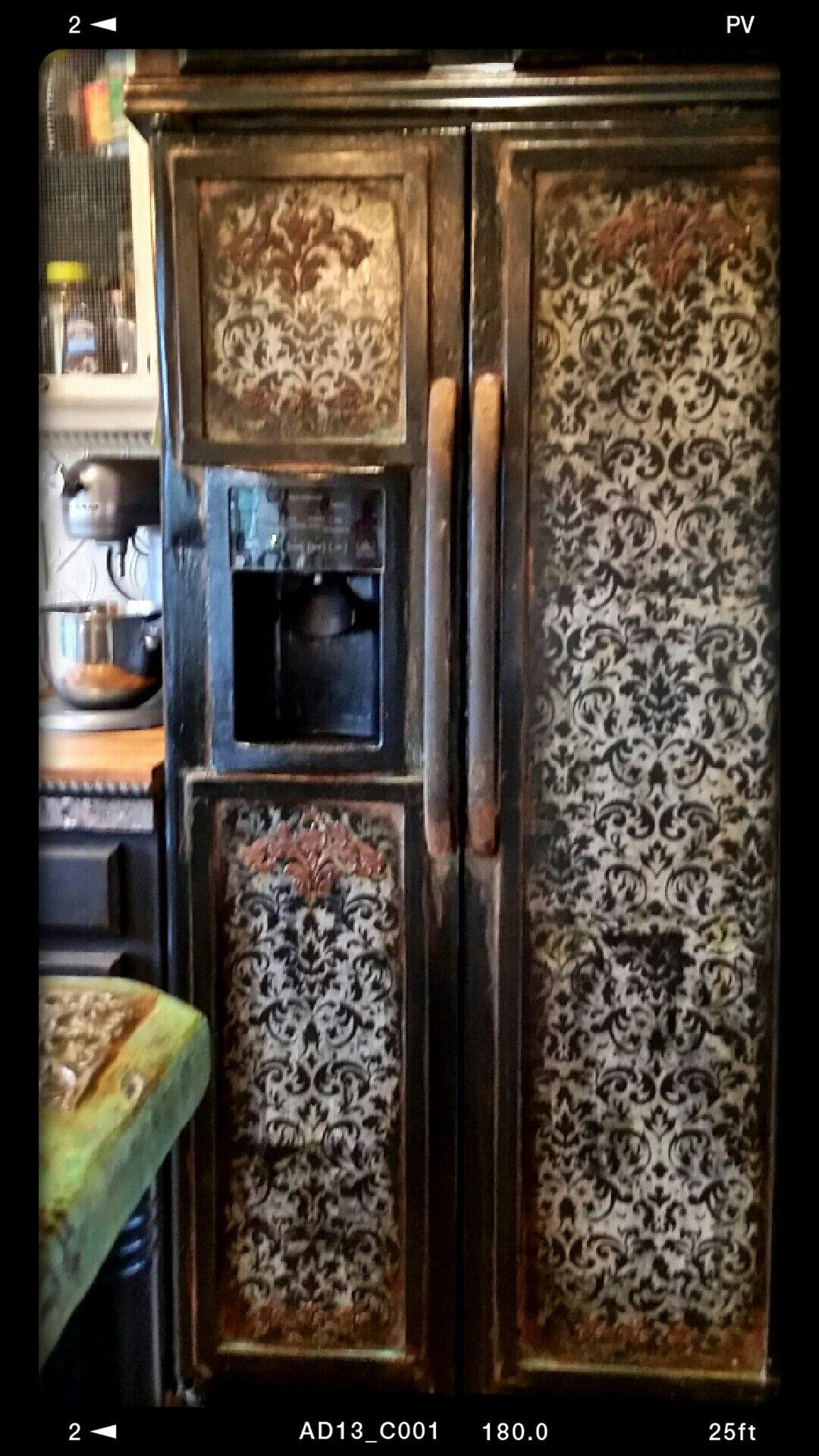 Sk S Newest Repainted Refrigerator Refrigerator Makeover Fridge Makeover Painted Fridge