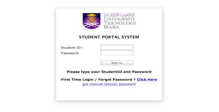 Uitm Student Portal Login Student Portal Student Portal System