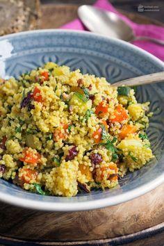 Photo of Orientalischer Couscous-Salat mit geröstetem Gemüse – Madame Cuisine