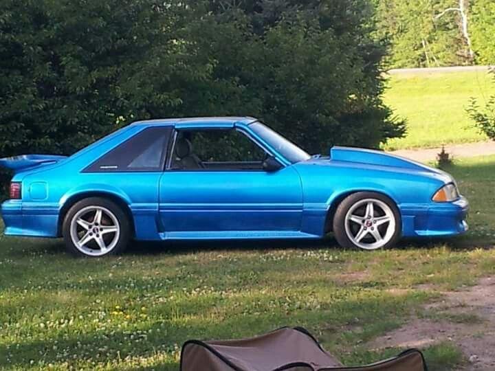 87 Gt T Top 351w Fox Body Mustang Blue Mustang Fox Mustang